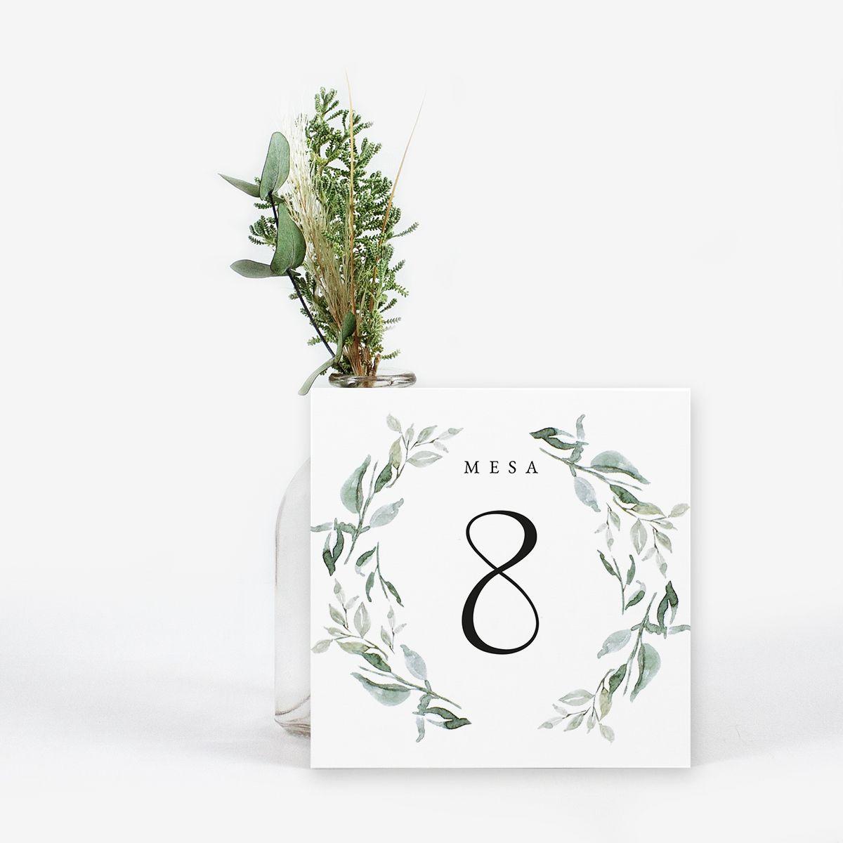 Número mesa boda Tierra
