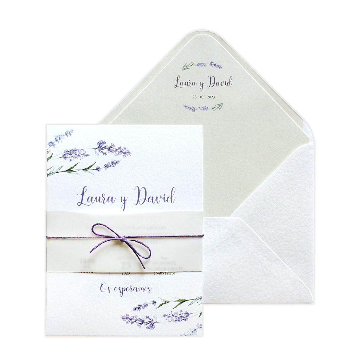 Invitación boda Provenza
