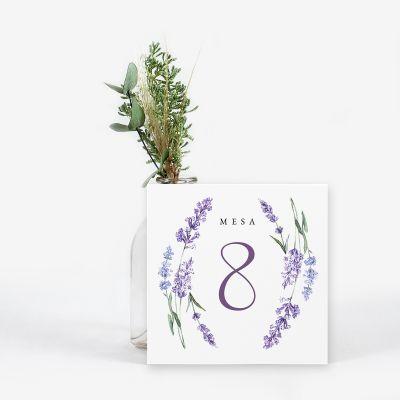 Número mesa boda Provenza