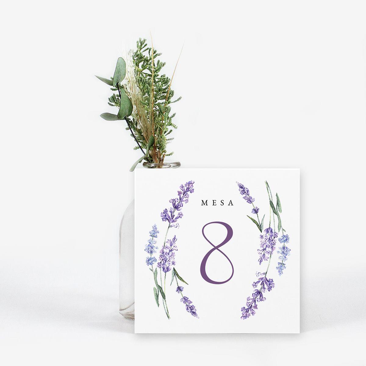 Número mesa boda Occitane