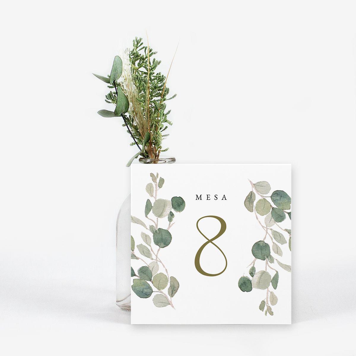 Número mesa boda Spirit