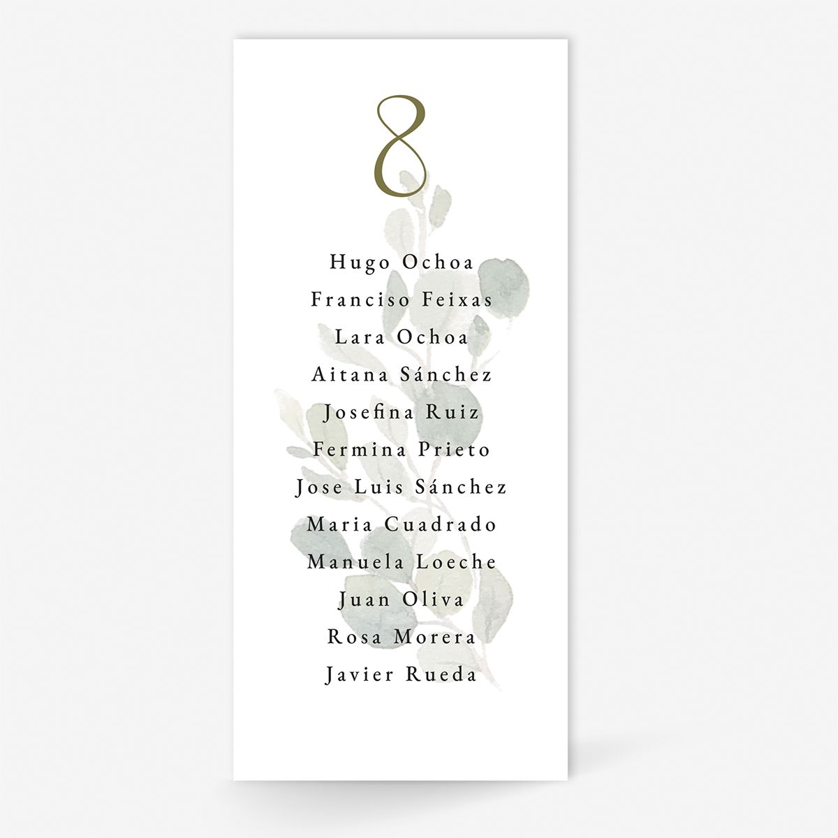 Plan de mesa (Seating plan) boda Spirit