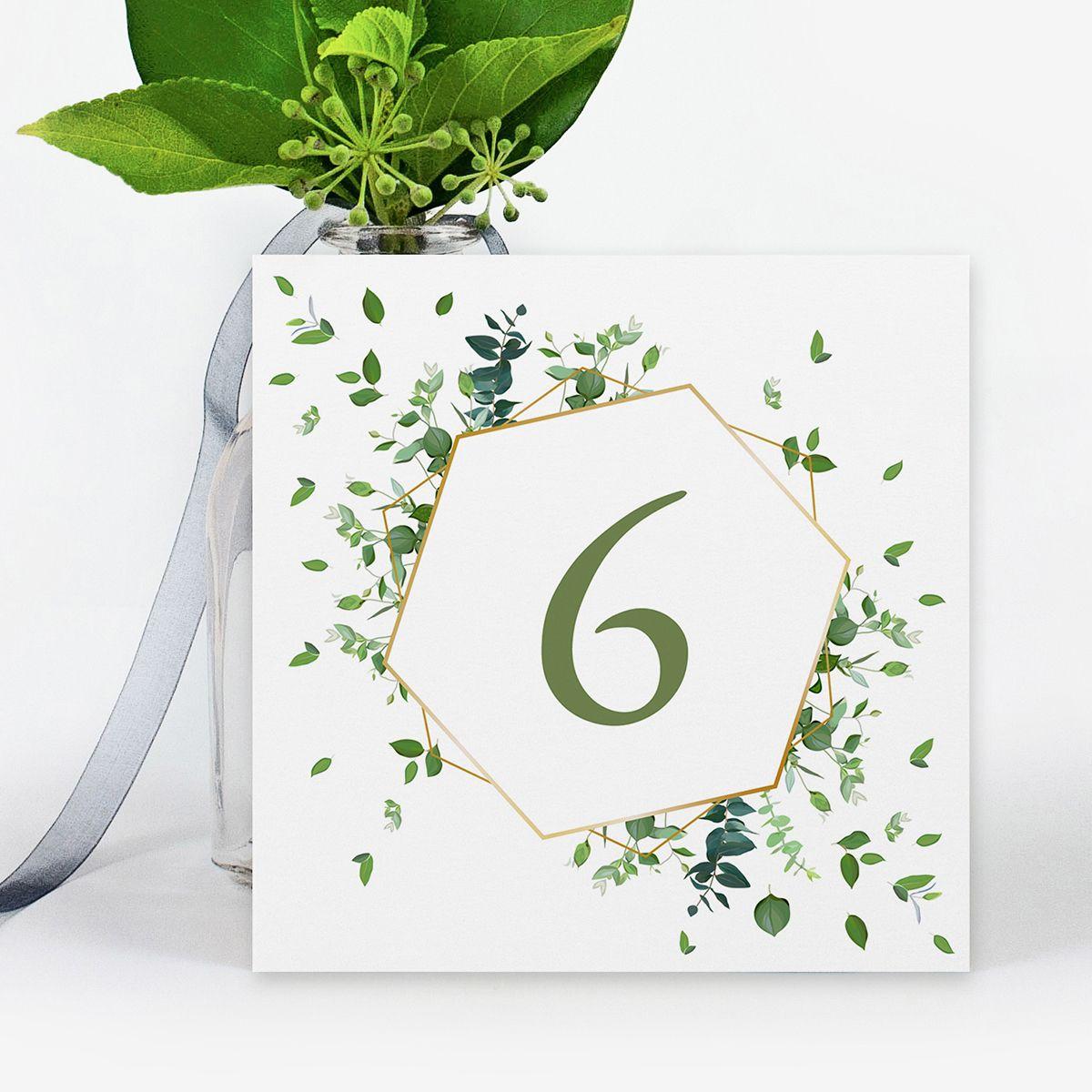 Número mesa boda Gala