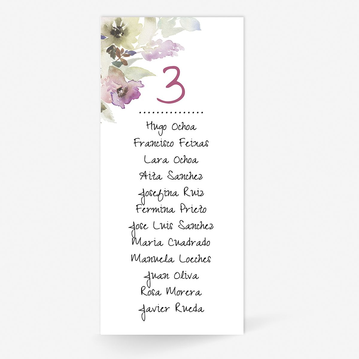 Plan de mesa (Seating plan) boda Arabela