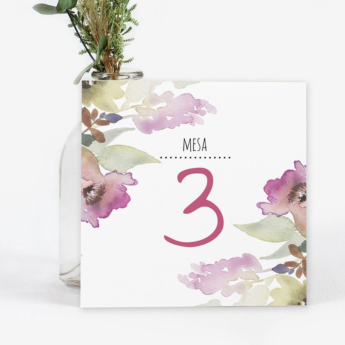 Número mesa boda Arabela