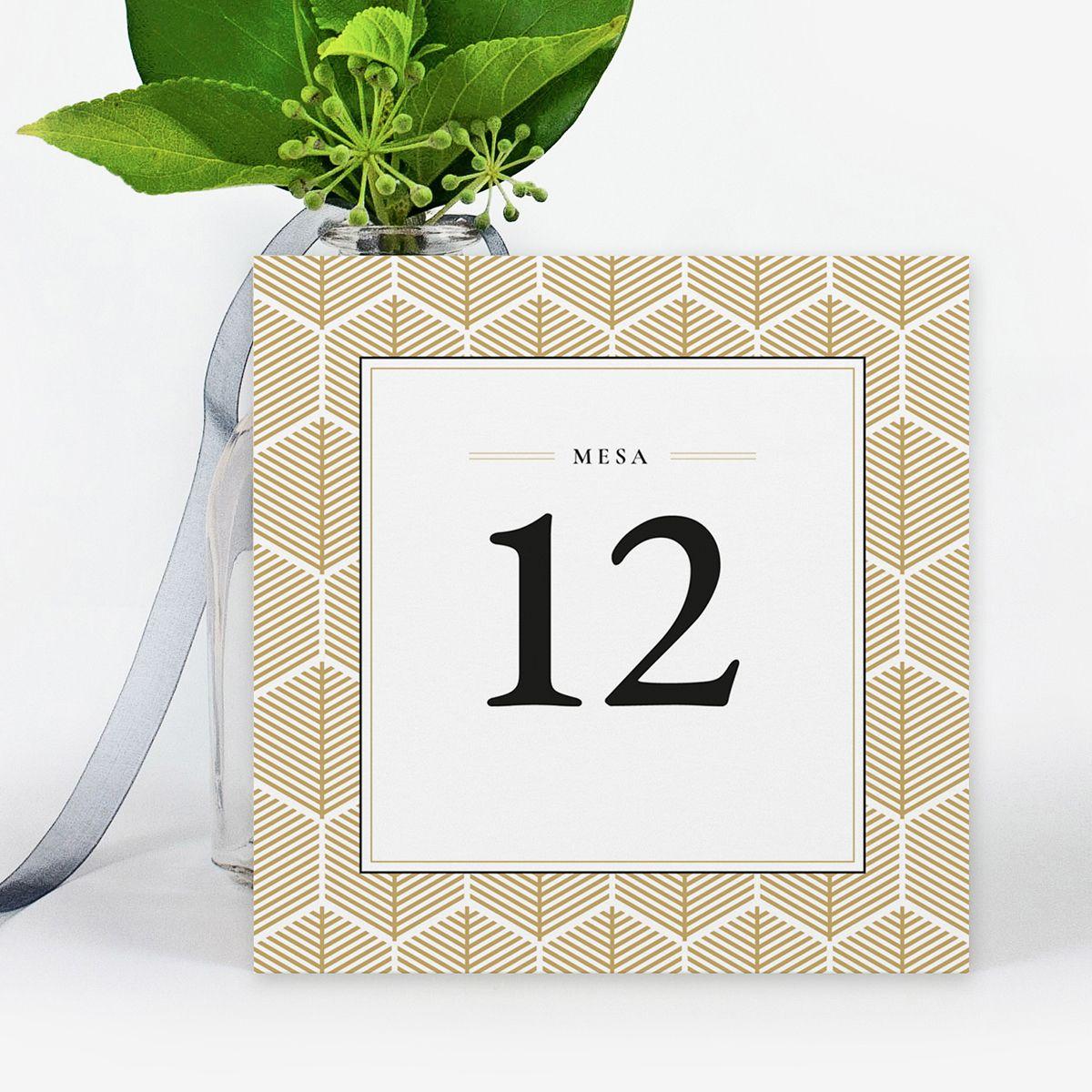Número mesa boda Reins Ocre