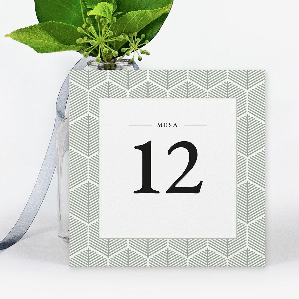 Número mesa boda Reims Verde