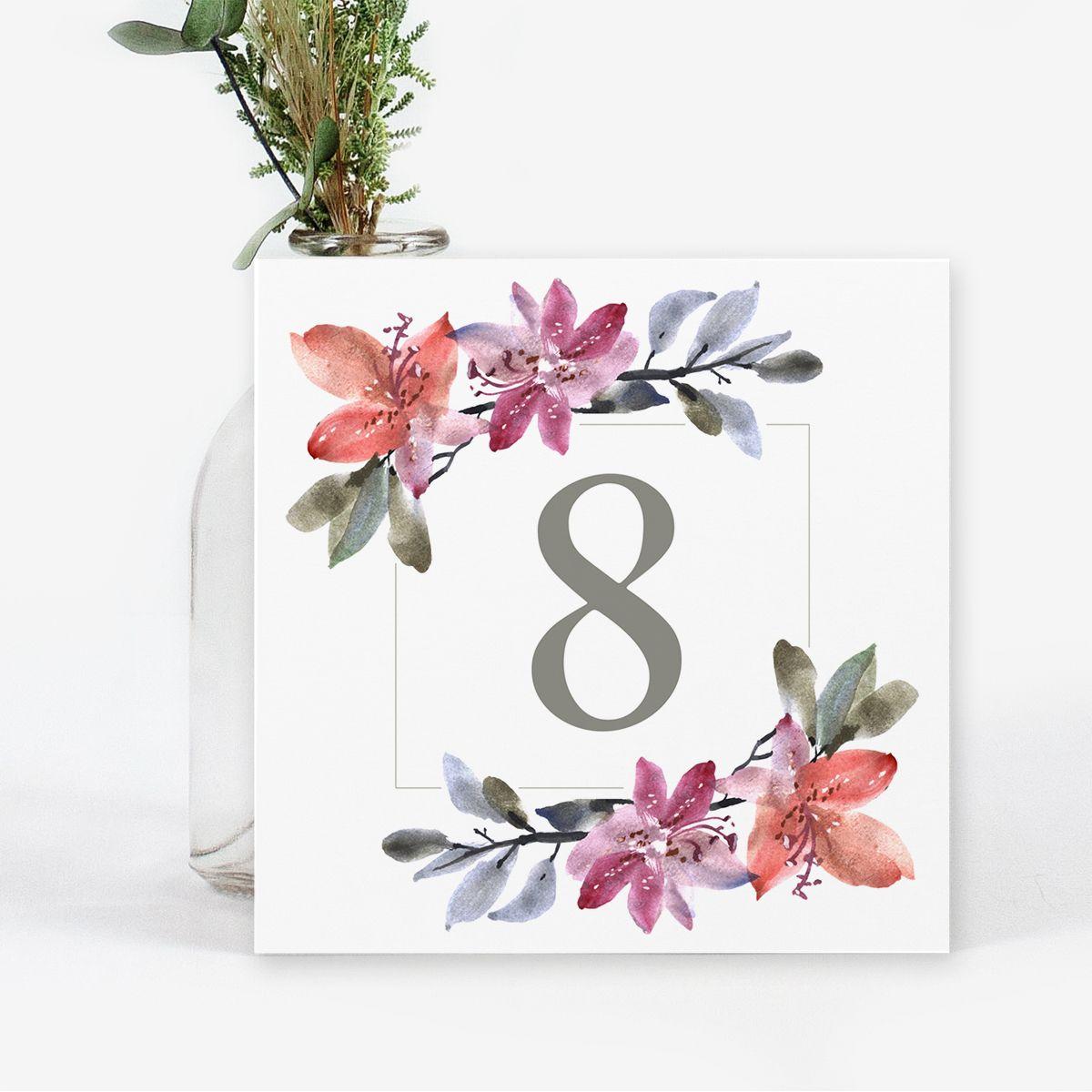 Número mesa boda Alegría