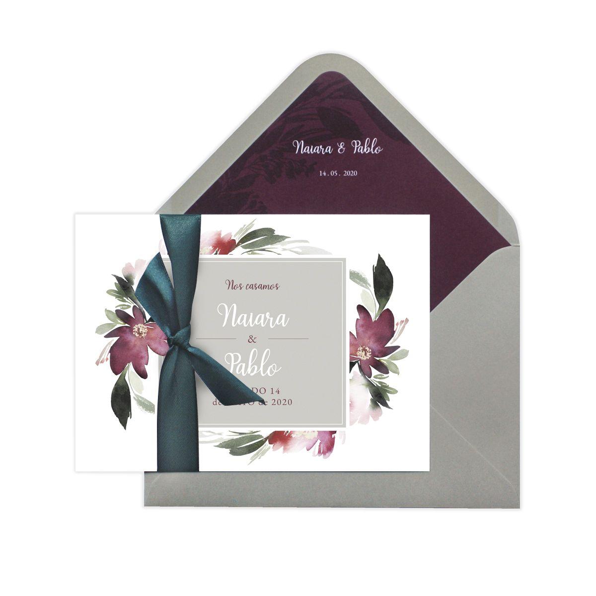 Invitación boda Pasión