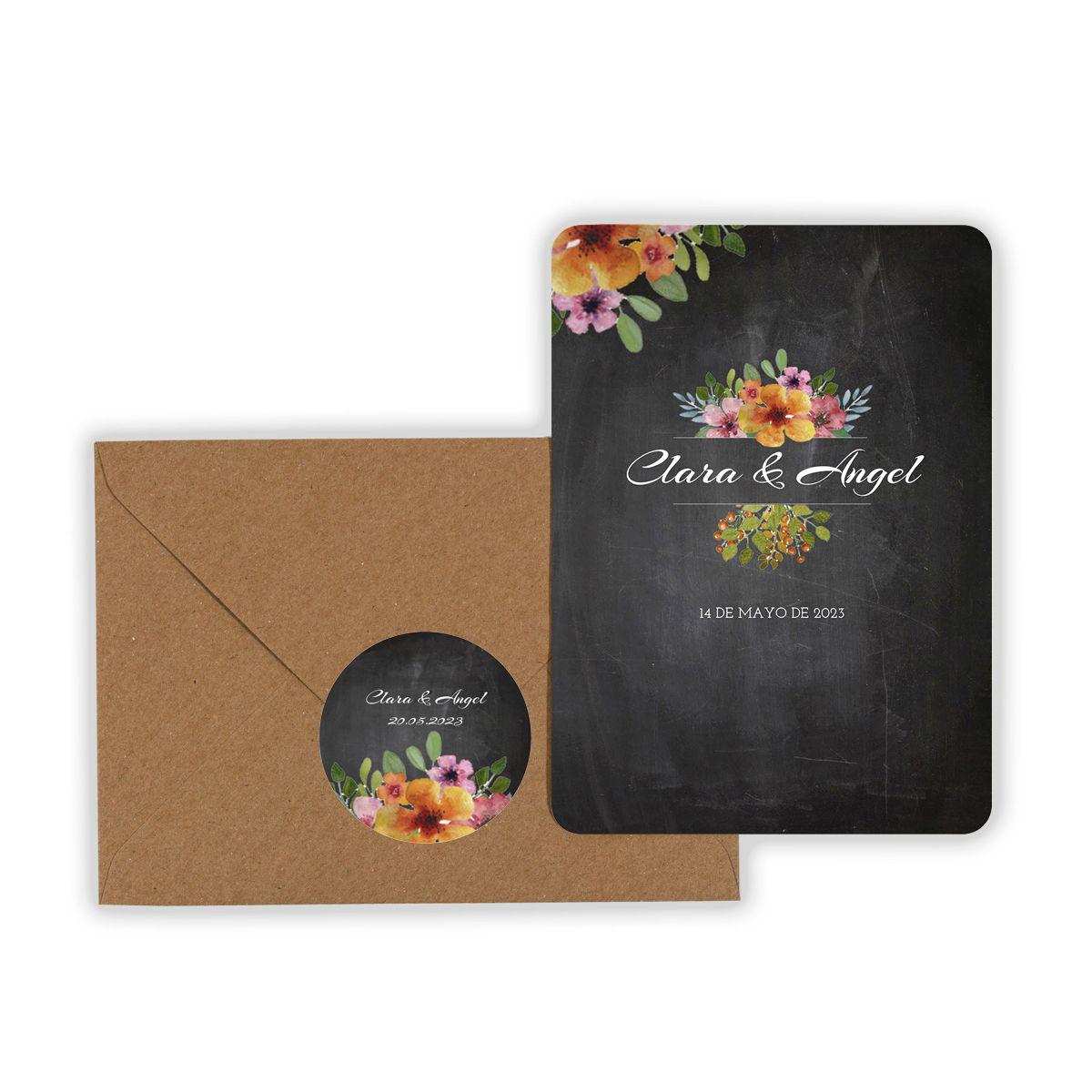 Invitación boda Floweret Chalk