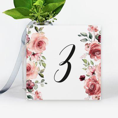 Número mesa boda Granada