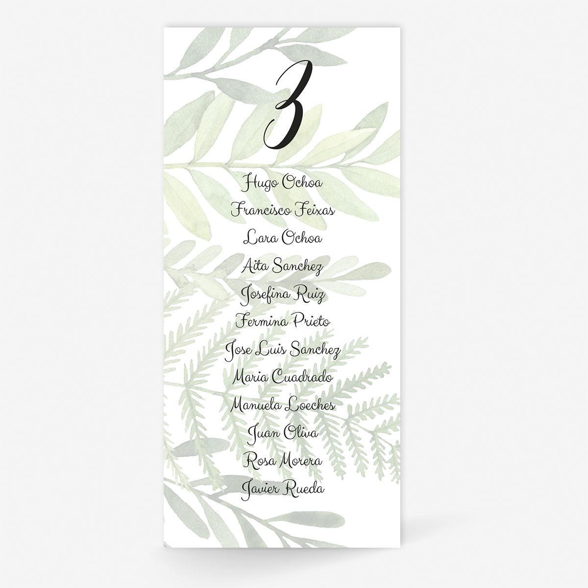 Plan de mesa (Seating plan) boda Toscana