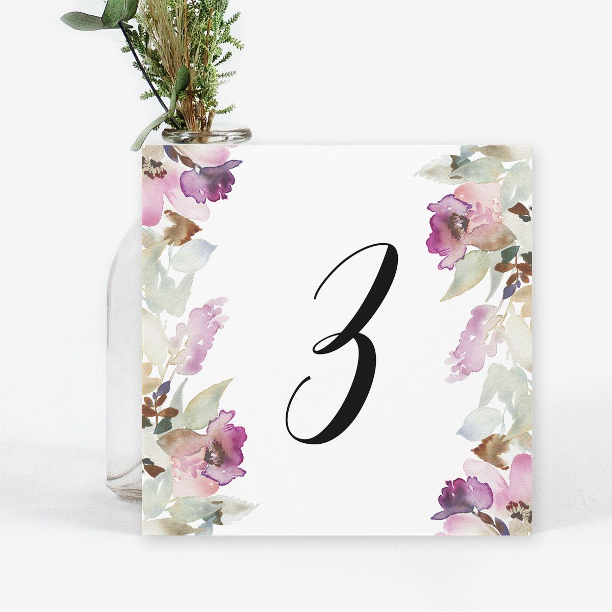 Número mesa boda Lidia
