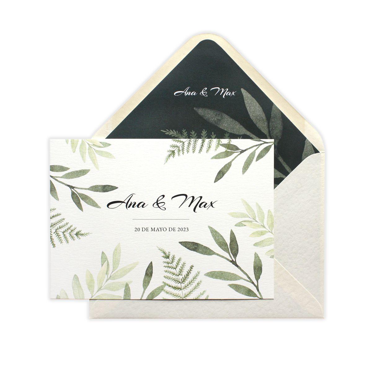 Invitación boda Aina