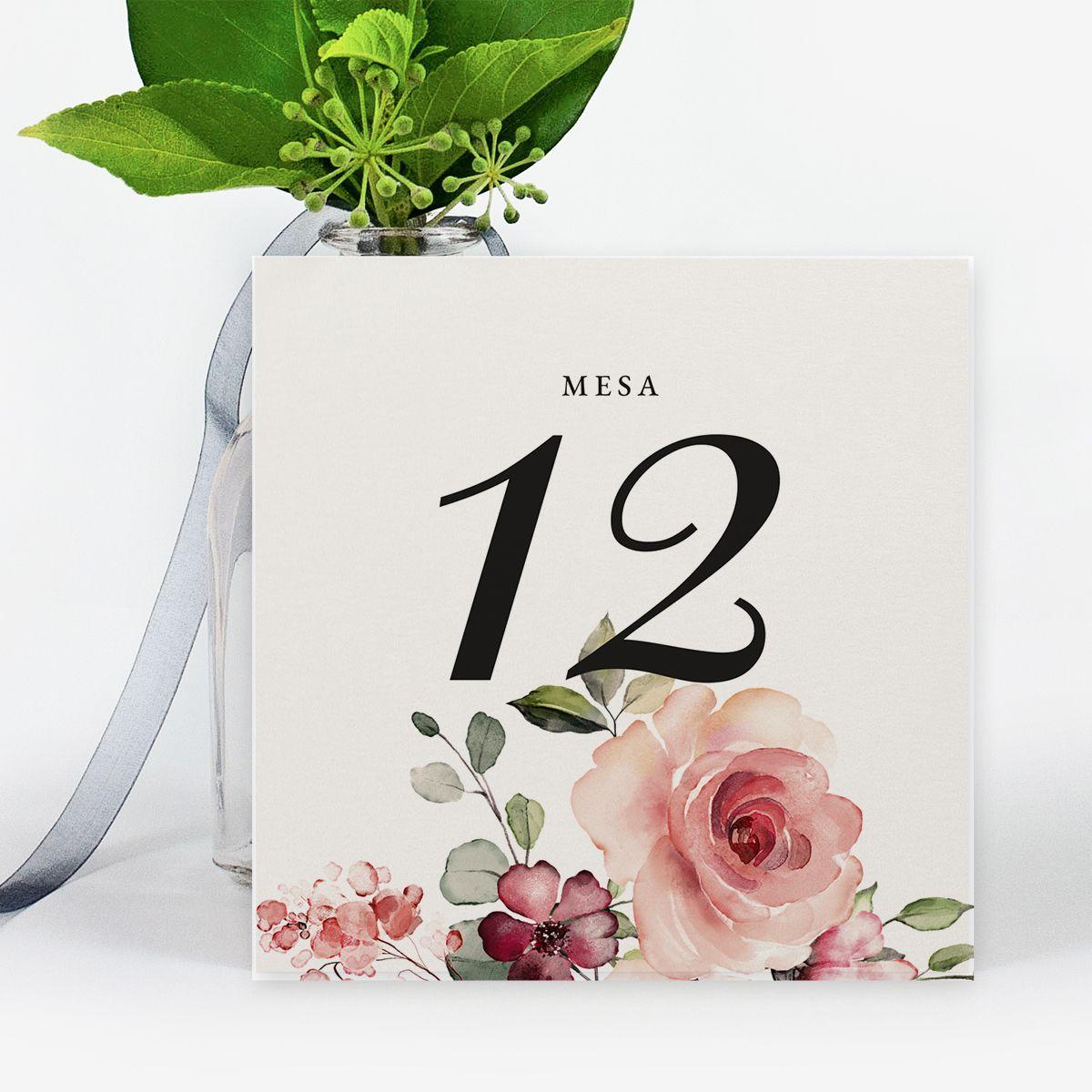 Número mesa boda Carla
