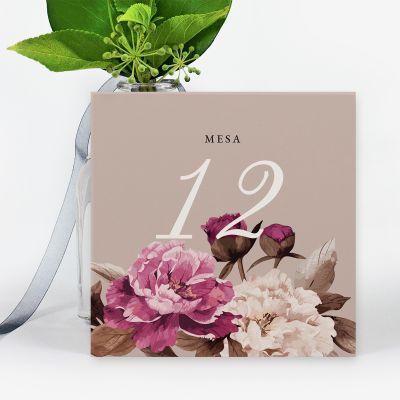 Número mesa boda Lola
