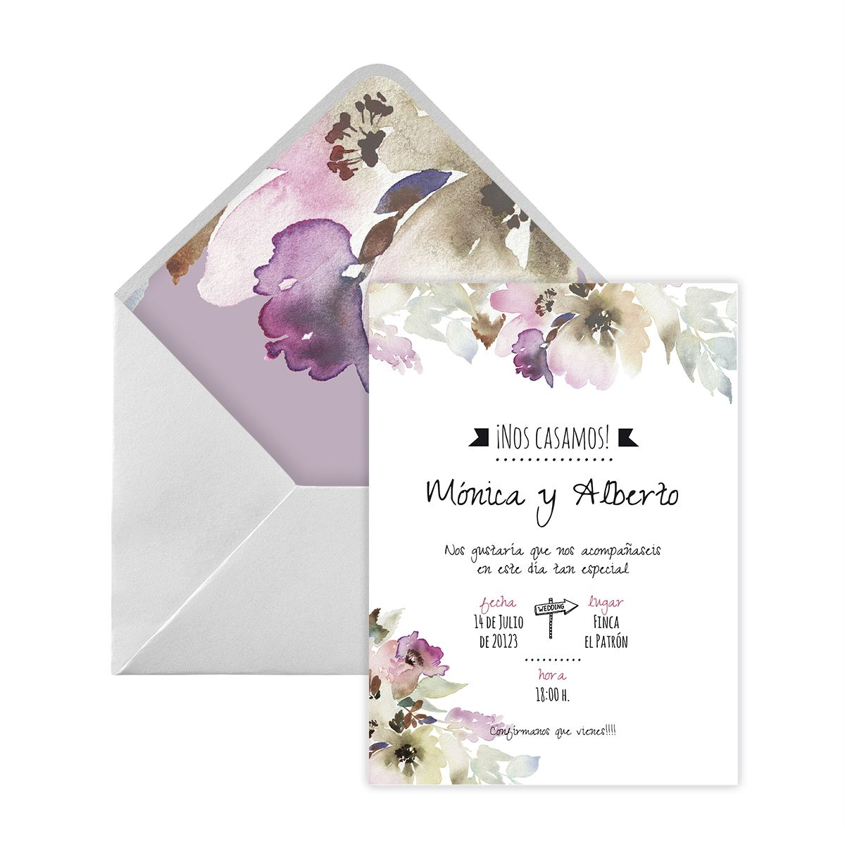 Invitación boda Arabela Digital