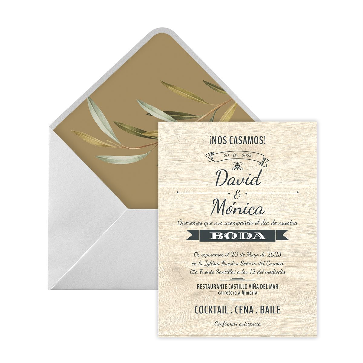Invitación boda Wester Love Digital
