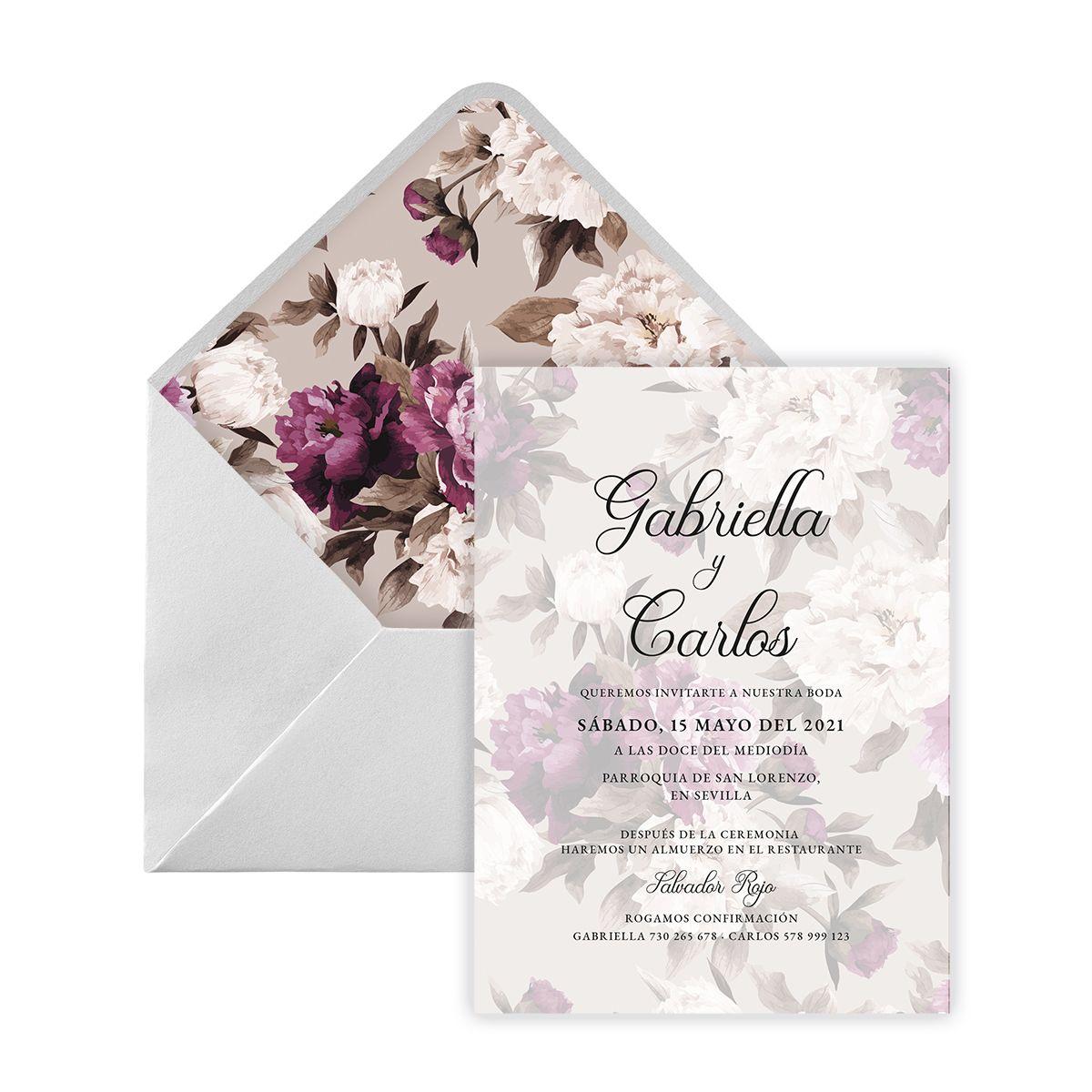 Invitación boda Lola Digital