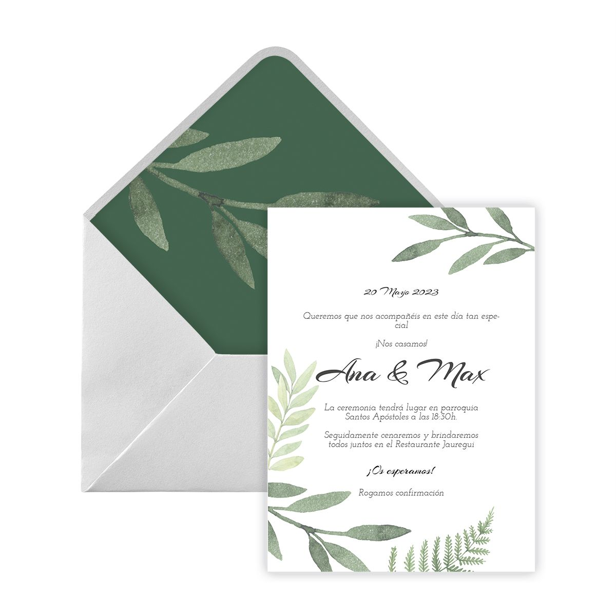 Invitación boda Kiya Digital