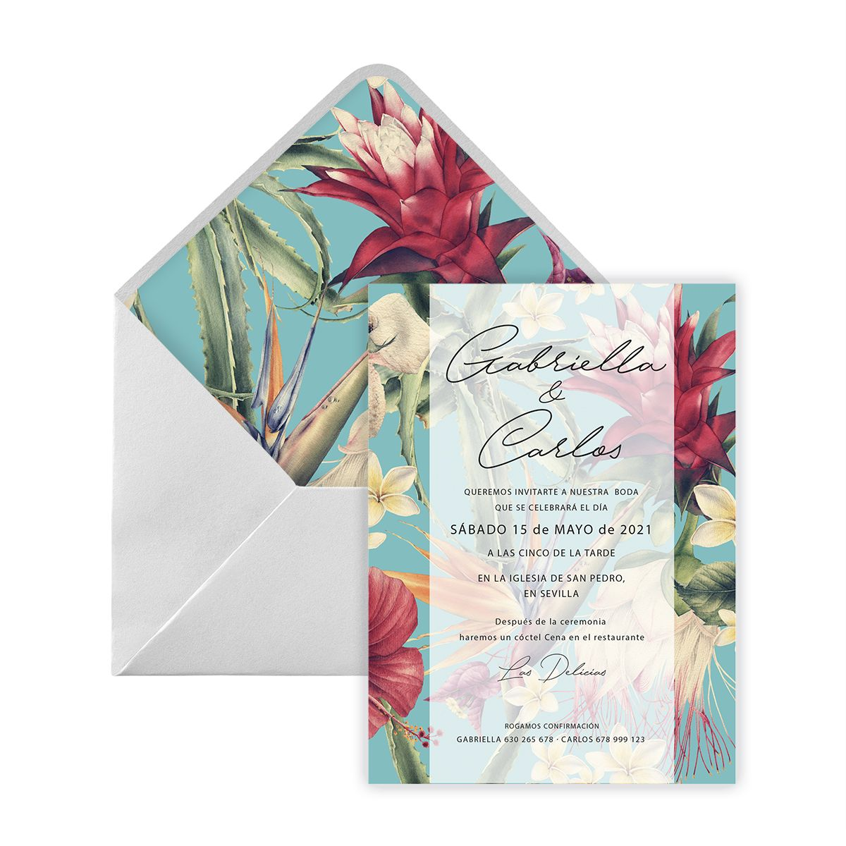 Invitación boda Ode Digital