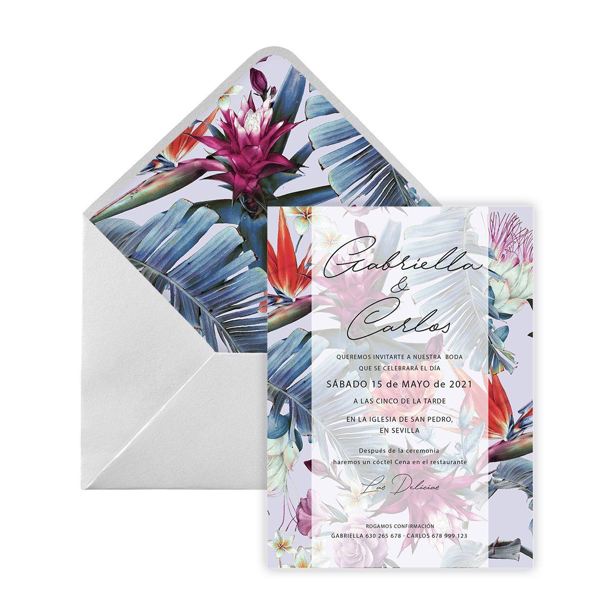 Invitación boda Shu Digital