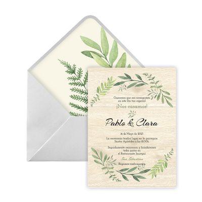 Invitación boda Zada Digital