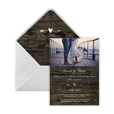 Invitación boda Nua Digital