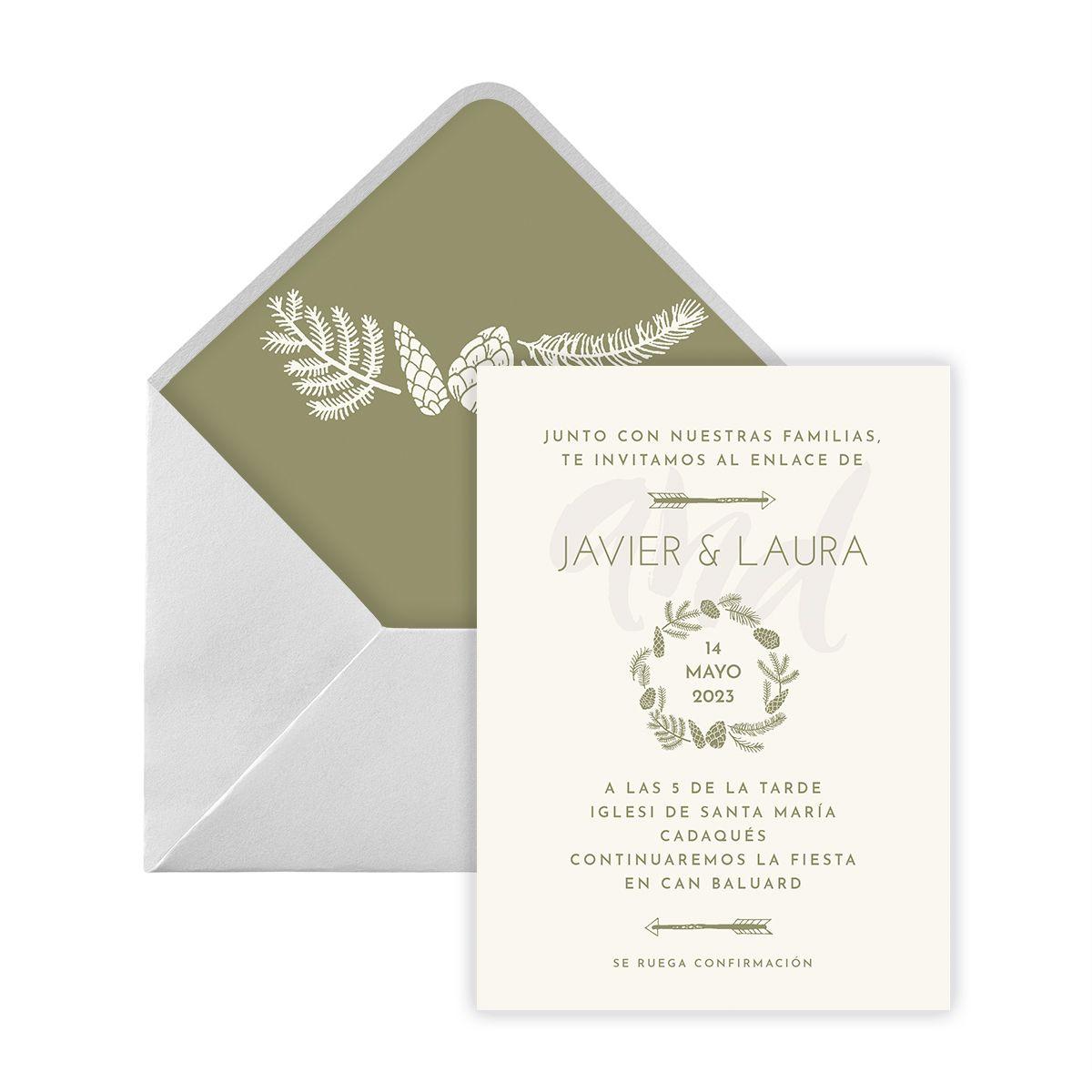 Invitación boda Omari Digital