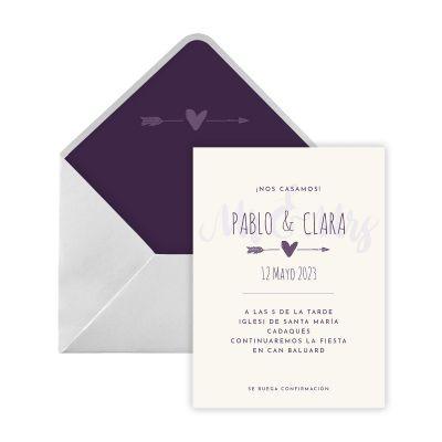 Invitación boda Satis Digital