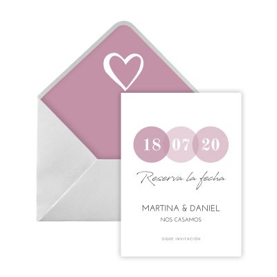 Invitación boda Confetti Digital