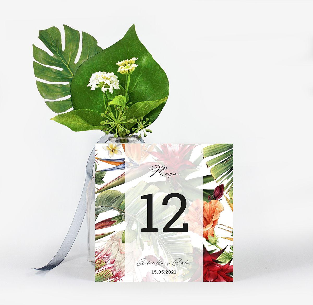 Número mesa boda Lanai