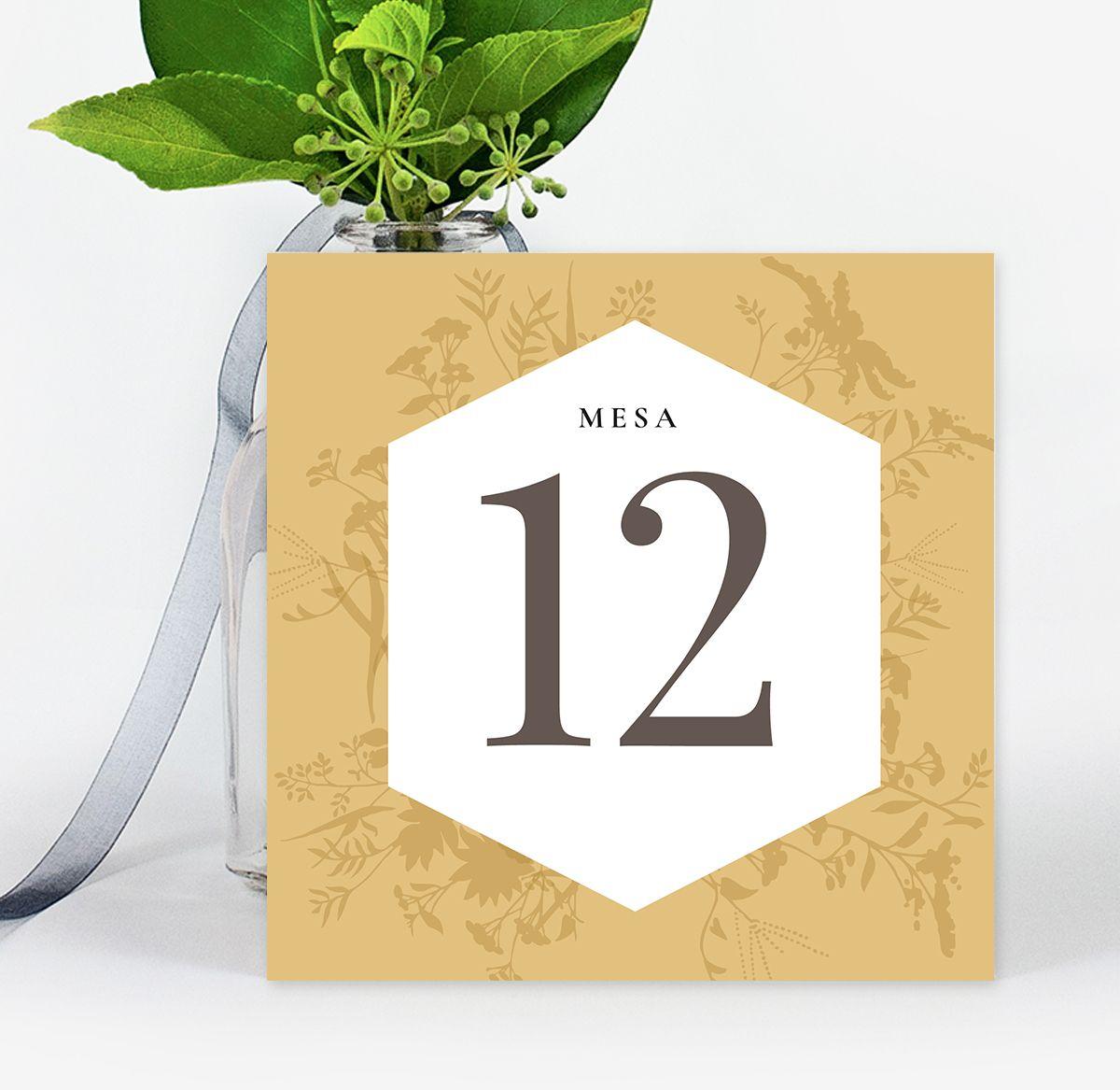 Número mesa boda Carmen Premium