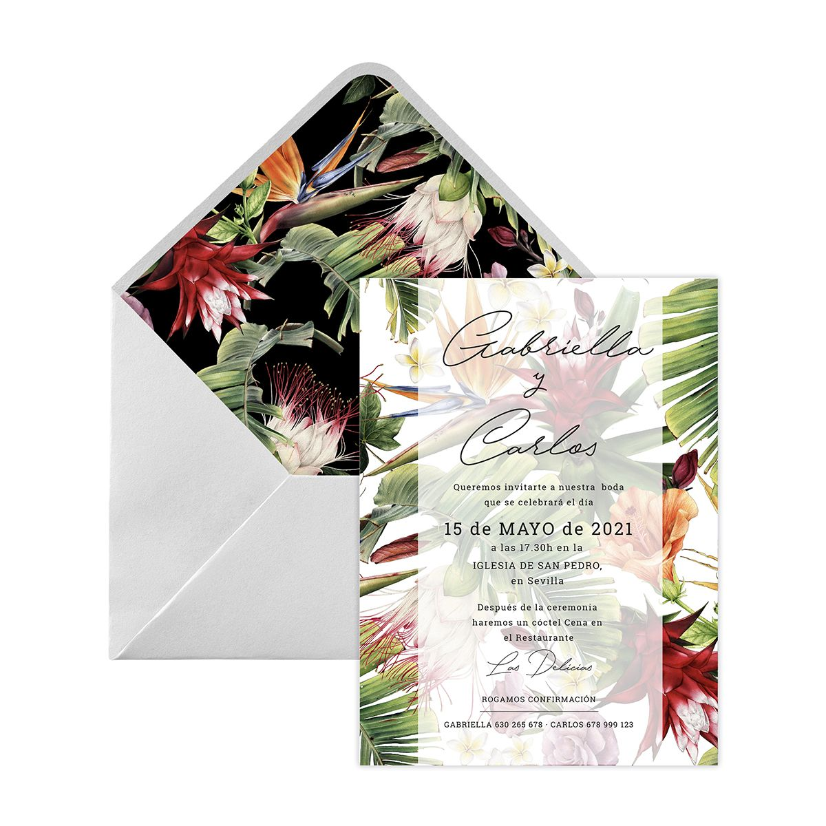 Invitación boda Alessa Digital