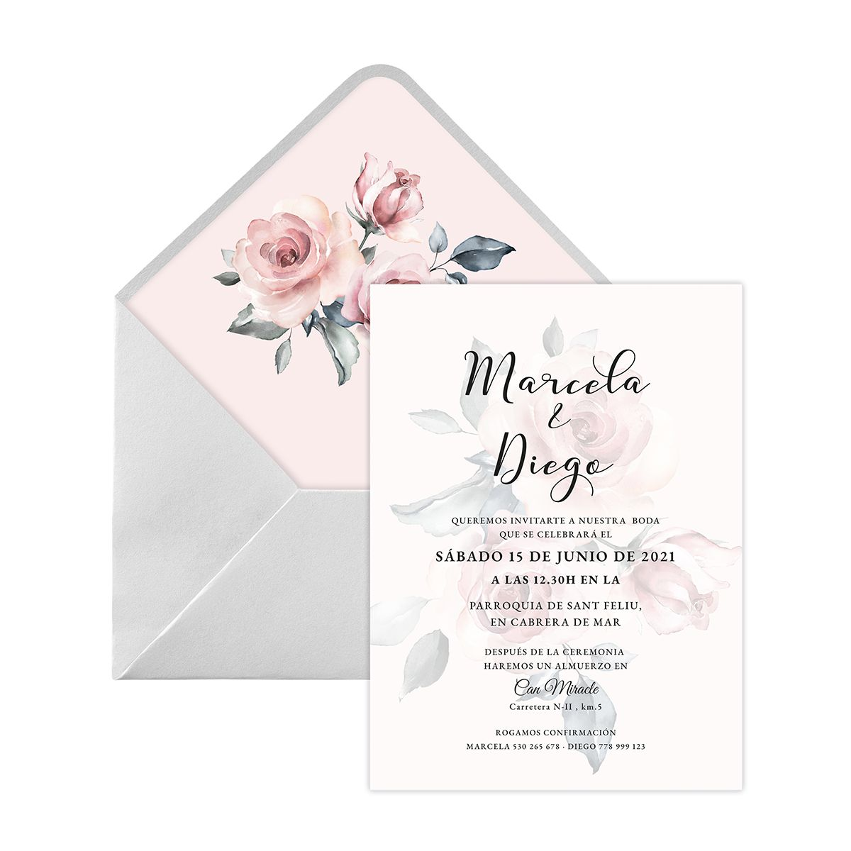 Invitación boda Noa Digital