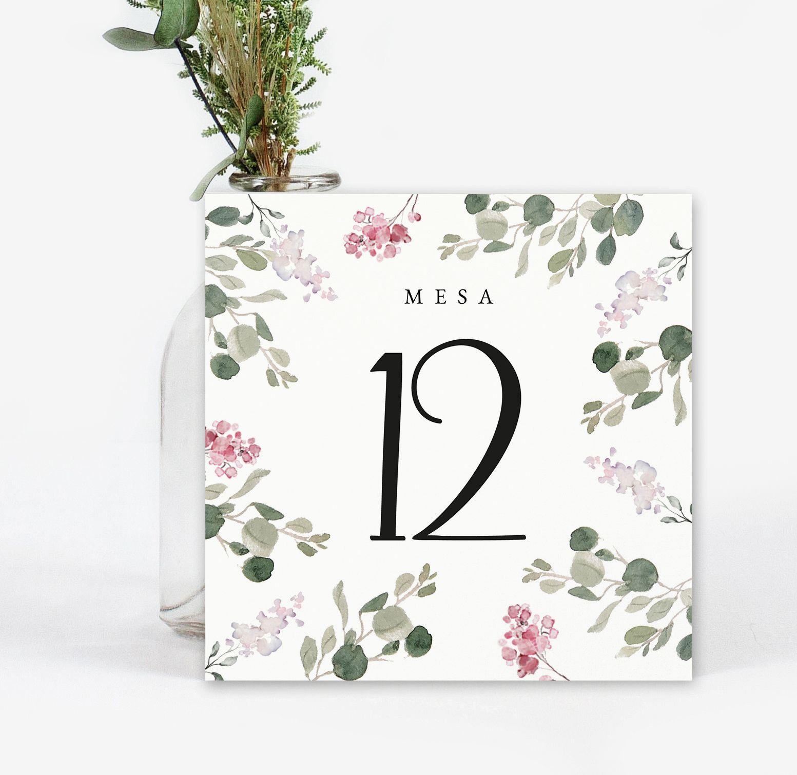 Número mesa boda Alba