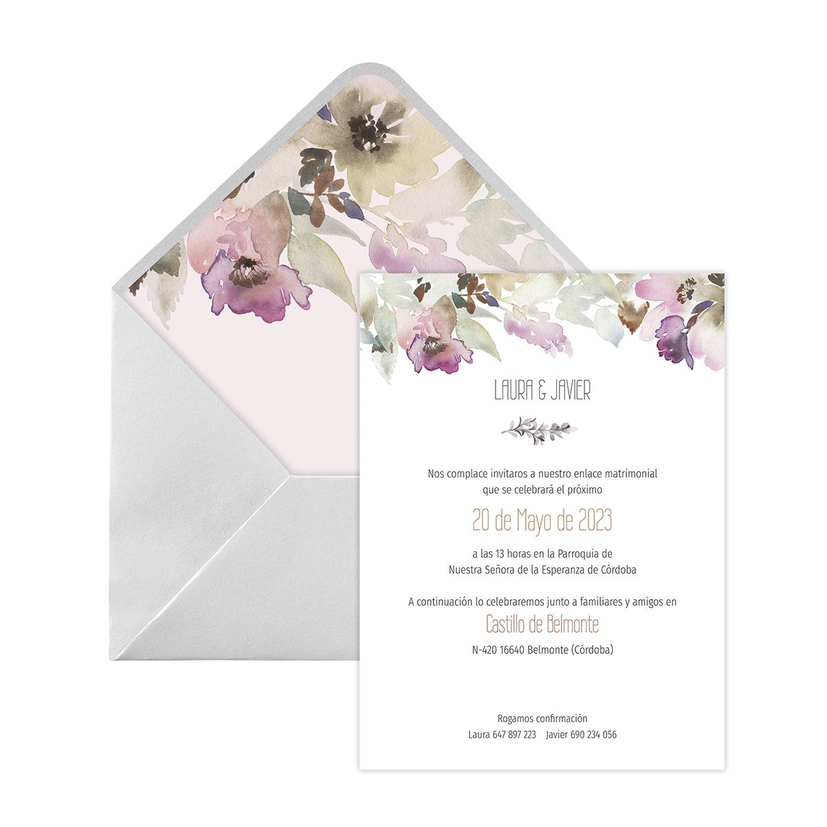 Invitación boda Elia Digital
