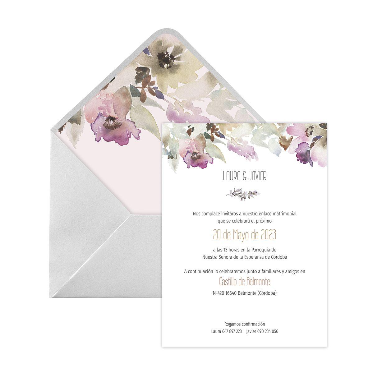 Invitación boda Elia Digital