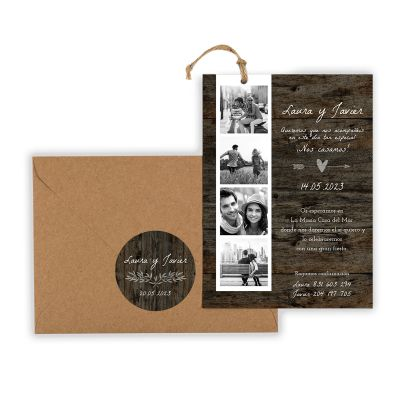 Invitación boda Berta