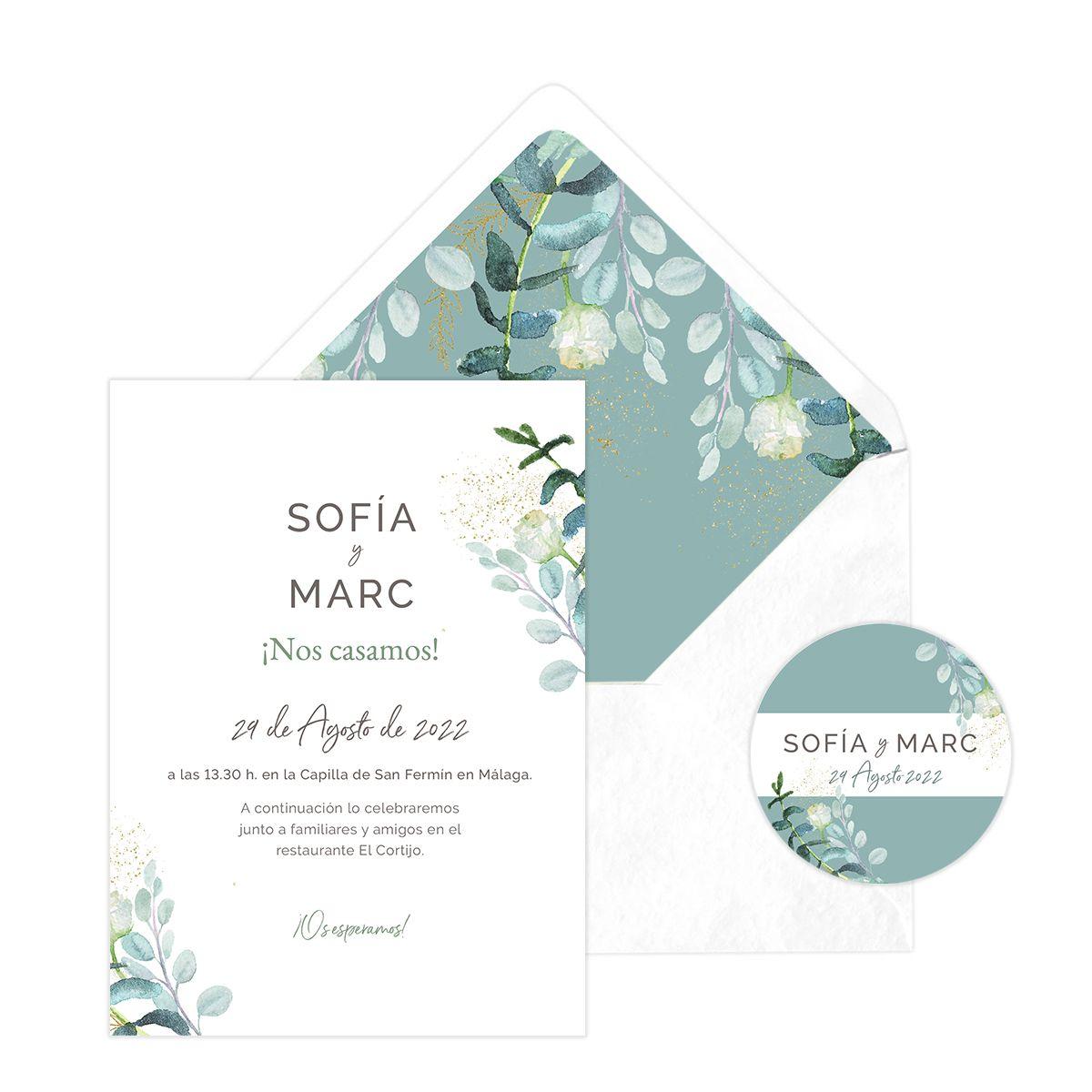 Invitación boda Gina