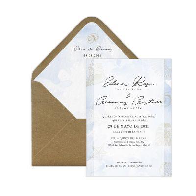 Invitación boda Marina