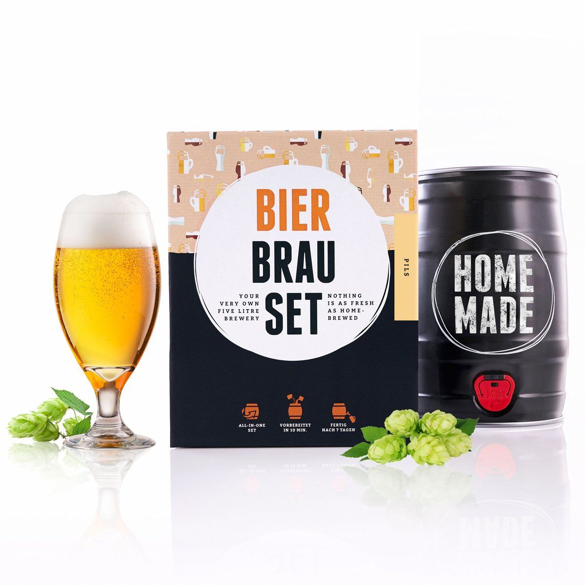 Kit para elaborar Cerveza Artesanal Pilsner en Casa