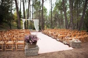 Ceremonia de boda bosque