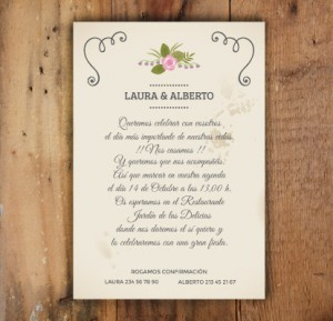 Invitaciones Flourish