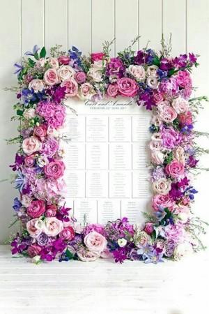Marco floral magenta