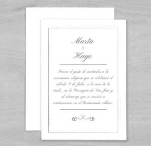 Invitaciones minimalistas