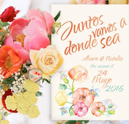 invitacion de boda aguaverde