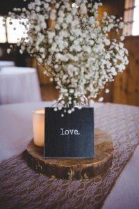 Decoración mesa de boda vintage