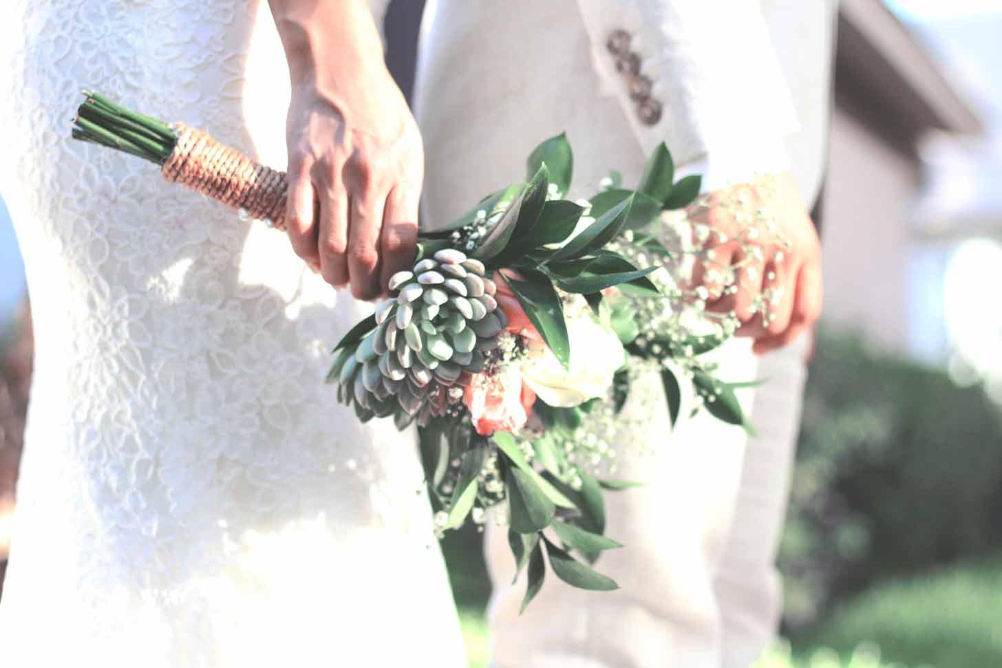 Ramo de novia tropical