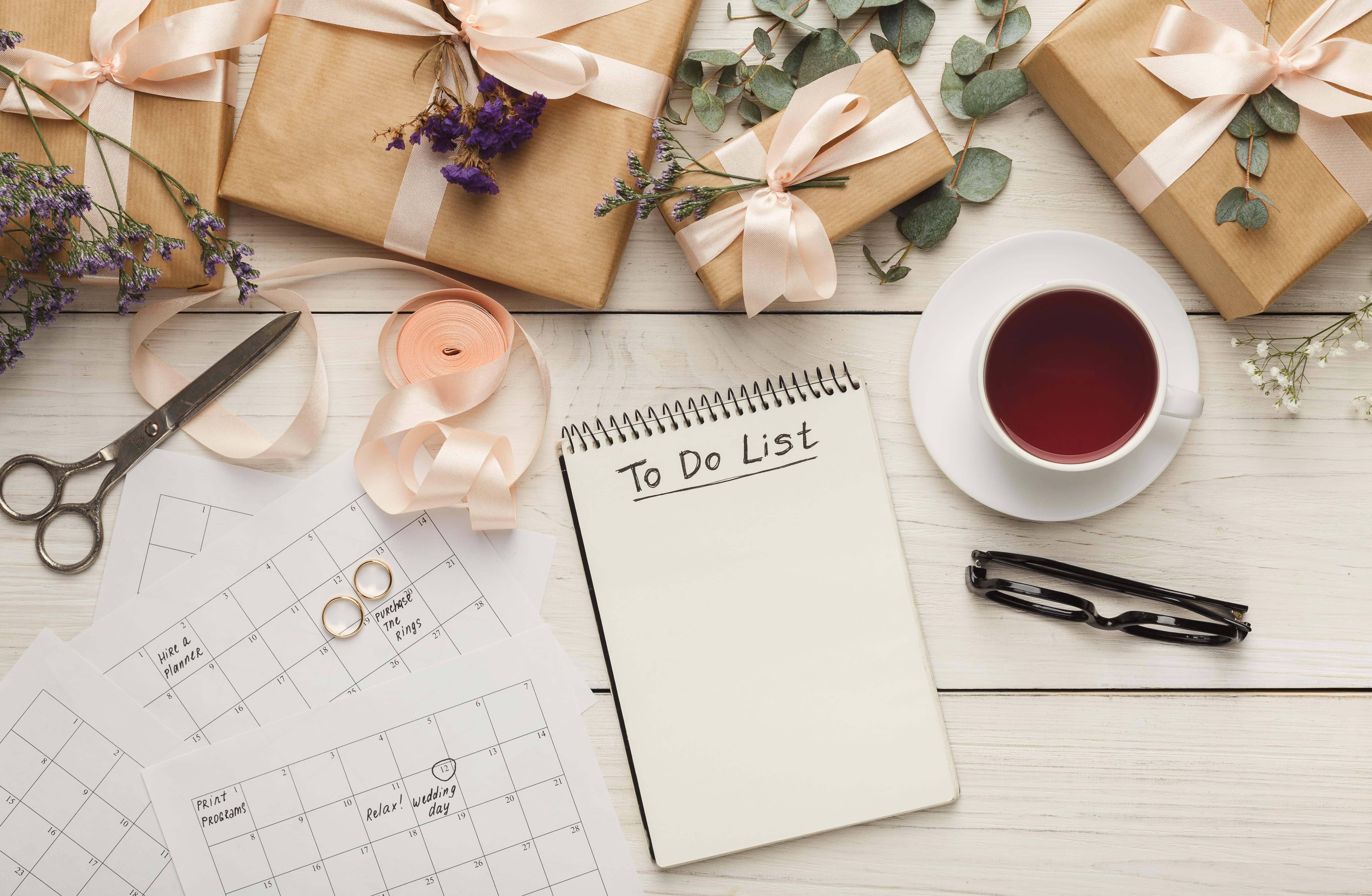 Por qué necesitas una agenda de novia